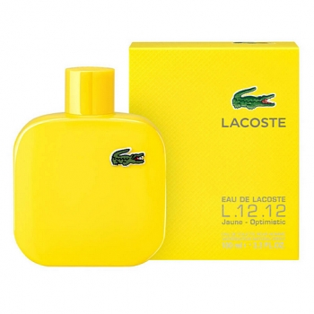LACOSTE L.12.12 JAUNE-OPTIMISTIC FOR MEN EDT 100ml